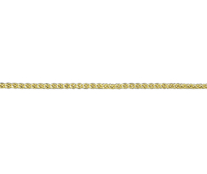 "18ct 18"" yellow gold medium Spiga link necklace"