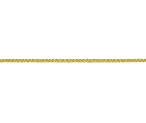 "9ct yellow gold 18"" spiga light weight necklace"