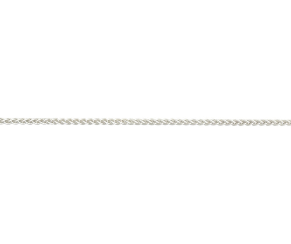 "Sterling Silver 18"" light Spiga link necklace"