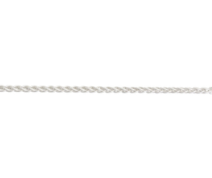 "Sterling Silver 18"" heavy spiga link necklace"