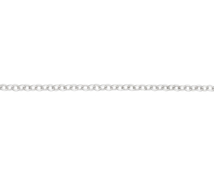 "Sterling Silver 16"" Medium Trace link necklace"
