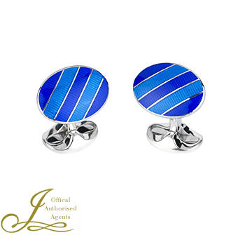 Royal and Denim Blue Enamel Cufflinks