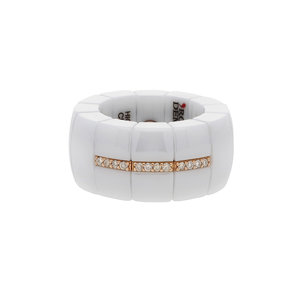 Roberto Demeglio 'Domino' white ceramic ring