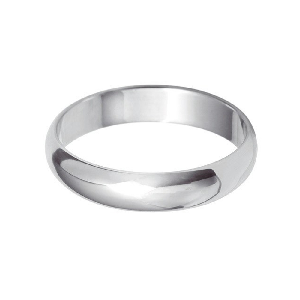 4mm D-Shaped Wedding Band