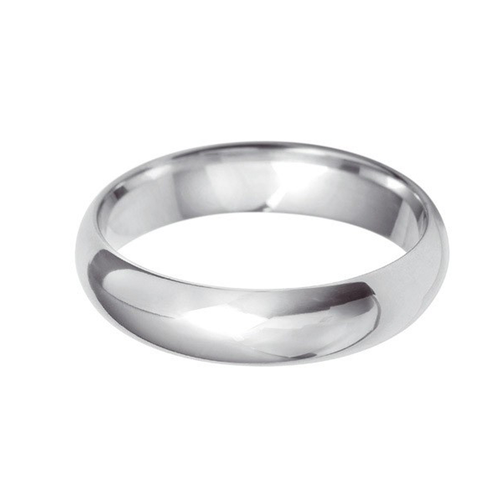 5mm D-Shaped Wedding Band