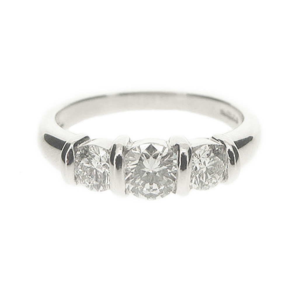 Platinum 1.17ct Three Diamond Ring