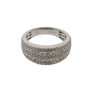 18ct White Gold 1.24ct Diamond Dress Ring