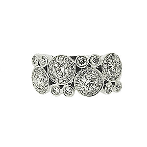 18ct White Gold 1.22ct Diamond Dress Ring