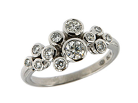 18ct White Gold 0.65ct Diamond Bubble Ring