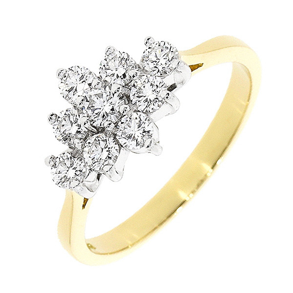 18ct Gold 0.65ct Diamond Dress Ring