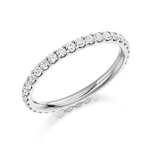 Platinum 0.75ct Diamond Full Eternity Ring