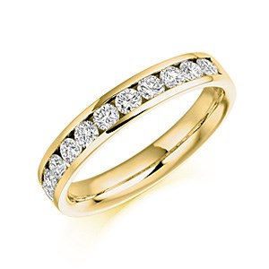 18ct Yellow Gold 0.78ct Diamond Half Eternity Ring