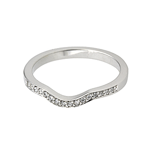 Diamond Set Shaped Wedding Band