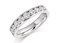 Platinum 1ct Diamond Half Eternity Ring