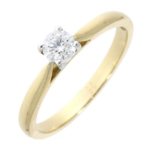 18ct Rose Gold 0.28ct Diamond Solitaire Ring