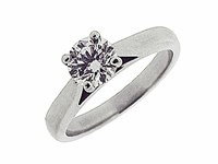18ct White Recycled Gold 0.51ct Diamond Solitaire Ring