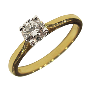 18ct Yellow Gold 0.40ct Diamond Solitaire Ring