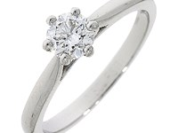 Platinum 0.44ct Diamond Solitaire Ring