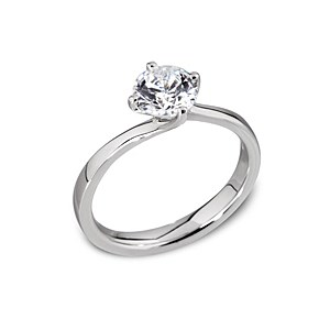 Platinum 0.70ct solitaire diamond ring