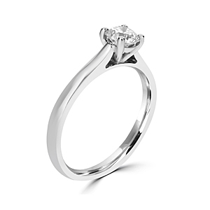 Platinum 0.50ct diamond ring