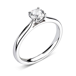 Platinum 0.70ct Diamond Ring