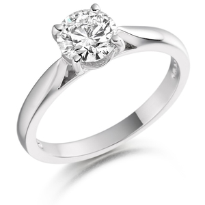 Platinum 0.46ct Diamond Solitaire Ring