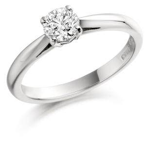 18ct White Gold 0.26ct Diamond Solitaire Ring