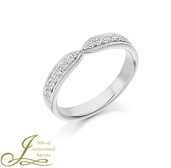 Platinum Diamond Shaped Band