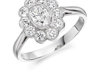 Platinum 0.88ct Diamond Cluster Ring