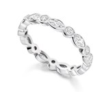 Platinum 1.20ct Diamond Full Eternity Ring
