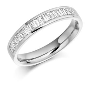 Platinum 0.56ct Diamond Half Eternity Ring