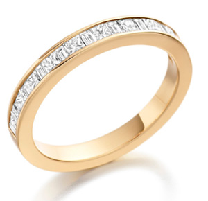 18ct Yellow Gold 0.65ct Diamond Half Eternity Ring