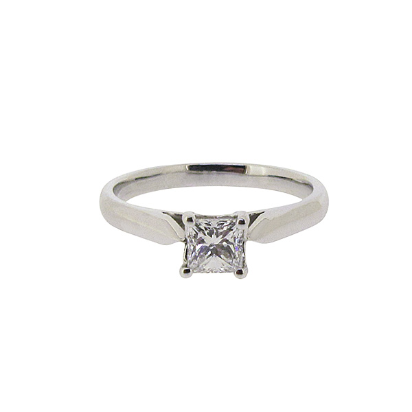 Platinum 0.47ct Diamond Ring