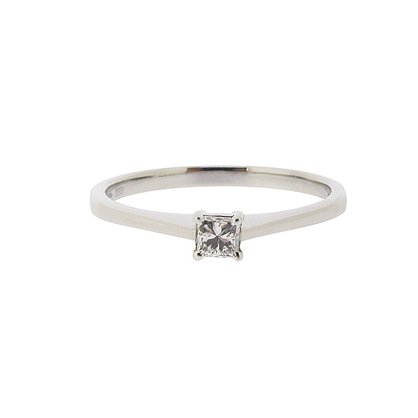 Platinum 0.14ct Diamond Ring