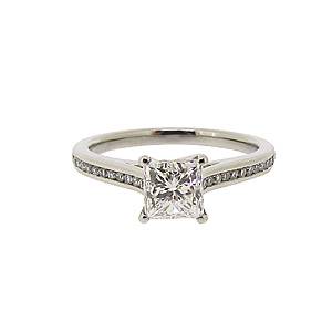 Platinum 1ct Princess Cut Diamond Ring