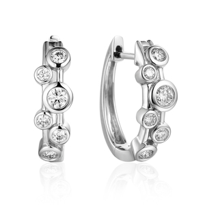 18ct White Gold 0.41ct Diamond Earrings