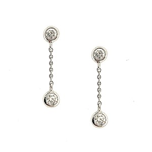 18ct White Gold 0.44ct Diamond Drop Earrings