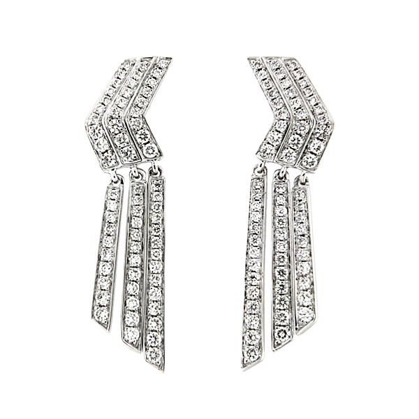 18ct White Gold 0.82ct Diamond Drop Earrings