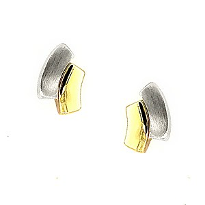 18ct White + Yellow Gold Earrings