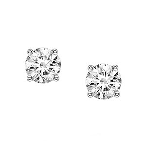 18ct White Gold 0.80ct Diamond Stud Earrings
