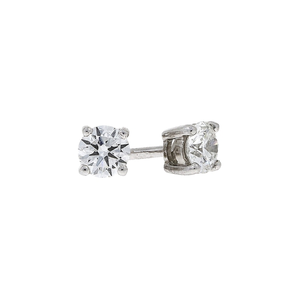 18ct White Gold 0.62ct Diamond Stud Earrings