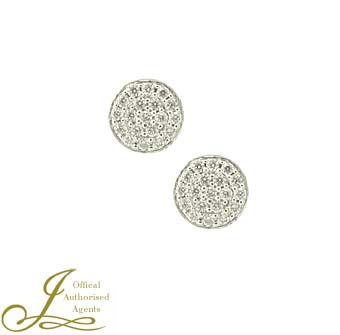 18ct White Gold Diamond Round Studs