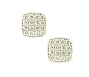 18ct White Gold 0.16ct Diamond Pave Stud Earrings