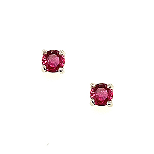 18ct White Gold 0.23ct Ruby Stud Earrings