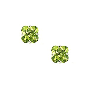 18ct White Gold Peridot Earrings