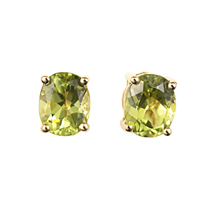 18ct yellow gold peridot earrings