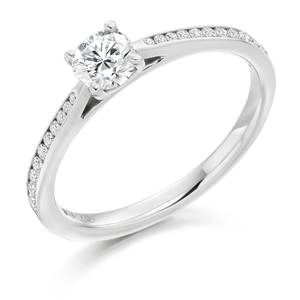 Platinum 0.65ct Diamond Halo Ring