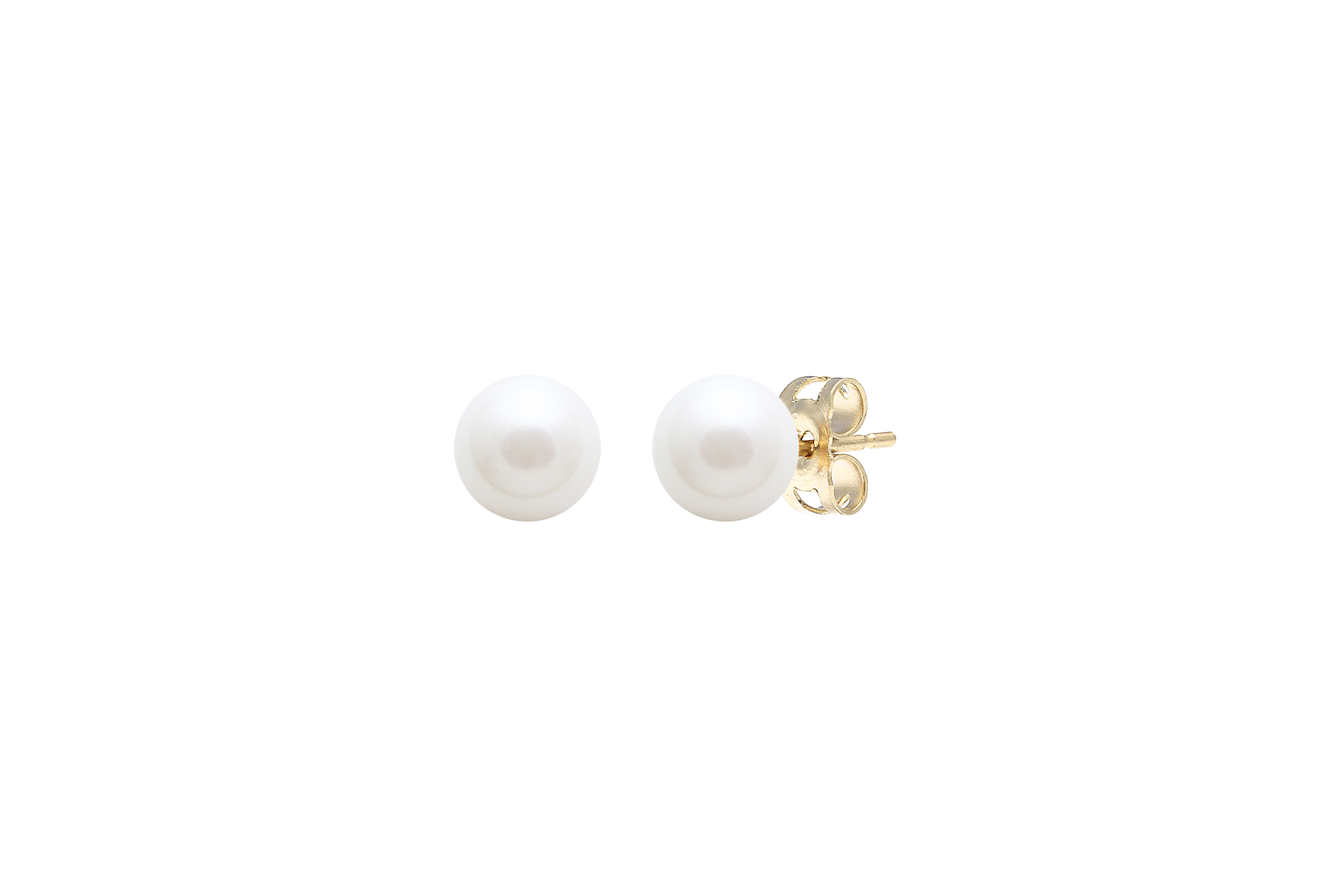 Yellow Gold 6.5-7mm Cultured River Pearl earrings