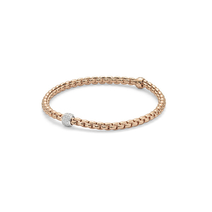 18ct Rose gold Fope Flex'It Eka Tiny bracelet