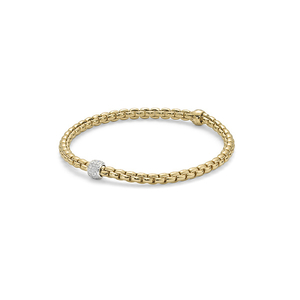 18ct yellow gold Fope Flex'It Eka Tiny bracelet